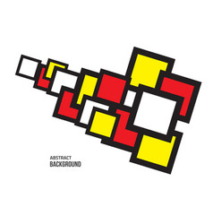 square-space-red-yellow-white vector image