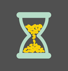 Time is money time management abstract time vector