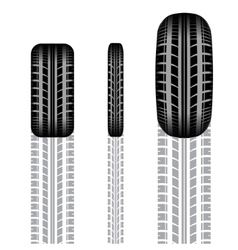 Tire track set 2 vector image