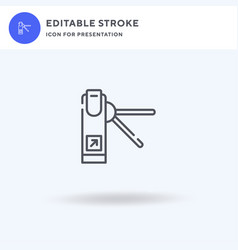 turnstiles icon filled flat sign solid vector image