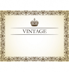 Vintage frame decor vector