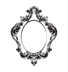 vintage frame line art classic engraved vector image