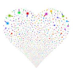 wand magic tool fireworks heart vector image