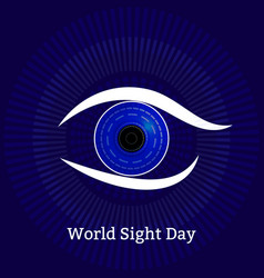 World sight day concept a holiday health vector