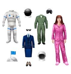 Astronaut girl pack vector