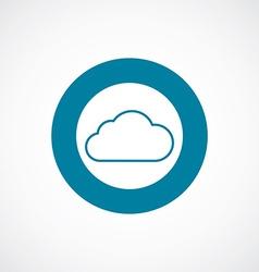 Cloud icon bold blue circle border vector