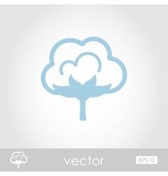 Cotton icon vector