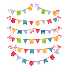 festive garlands isolated on white background vector image vector image