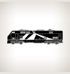 Rail transport vehicle on light background vector