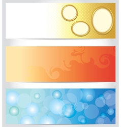 set - abstract color horizontal backgrounds vector image vector image