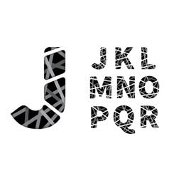 Cut paper font vector