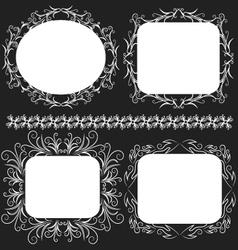 Decorative frame set vector image