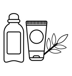 eco natural cream icon outline style vector image