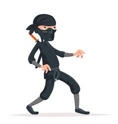 ninja thief sneak walk sword asian assassin vector image