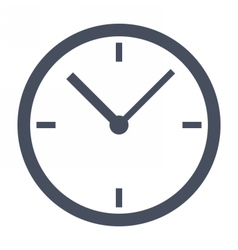 Simple classic clock vector image vector image