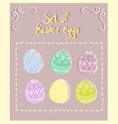 colorful set of easter eggs vector image