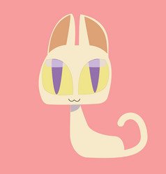 cute kitty and cat characters design vector image vector image