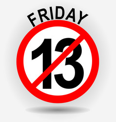 friday 13th circle emblem with unfortunate number vector image vector image