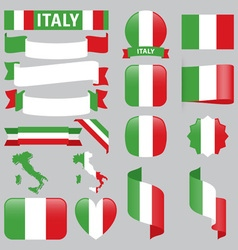 italy flags vector image vector image
