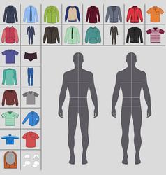 mens clothing set vector image vector image