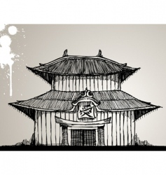 pagoda illustration vector image vector image