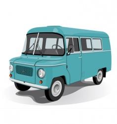 retro mini bus vector image
