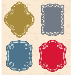 set of vintage labels vector image vector image