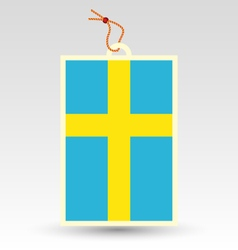 swedish made in tag vector image vector image