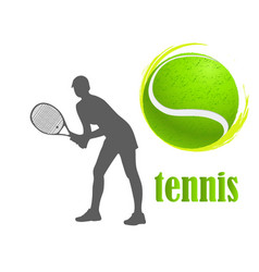 tennis woman isolated vector image vector image