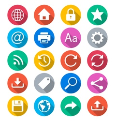 Web flat color icons vector image