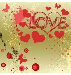 Grungy style love concept vector image