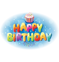 Happy birthday text vector image vector image