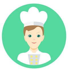 icon man cook in a flat style image on a vector image