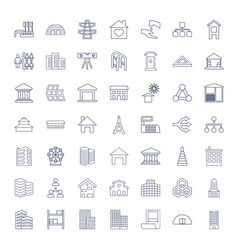 49 structure icons vector