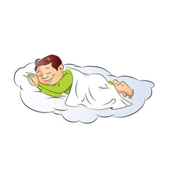 A boy sleeping vector