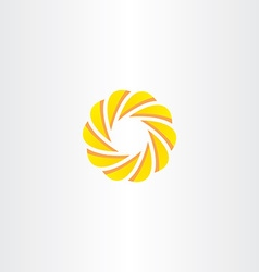 abstract business circle element logo yellow icon vector image