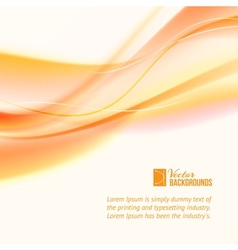 Abstract business orange lines vector image