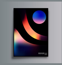 abstract design poster with colorful gradient vector image