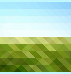abstract triangular mosaic in colors of sunny day vector image