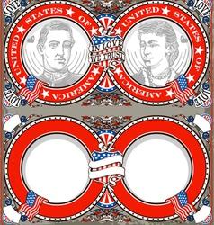 American Vintage Patriot Wedding Invite vector image