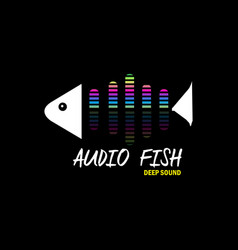 Audio fish for music vector