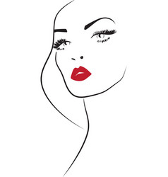 beauty makeup icon vector image