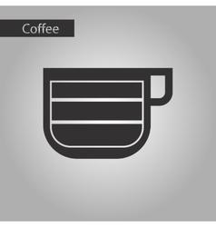 Black and white style cup latte macchiato vector