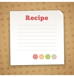 Blank Recipe Card Template vector image