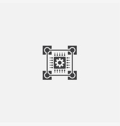 blockchain technology base icon simple sign vector image
