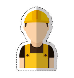 builder construction avatar icon vector image