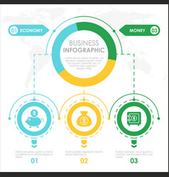 business concept infographic template colorful vector image