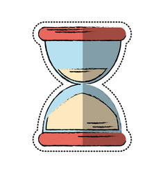 cartoon sand clock time icon vector image