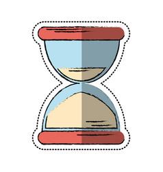 Cartoon sand clock time icon vector