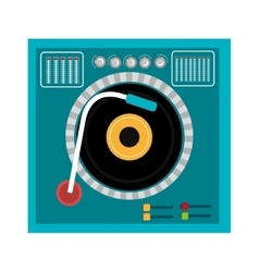 Colorful dj turntable graphic vector
